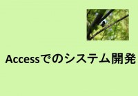Accessでのシステム開発